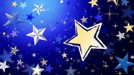 stars, background, shape