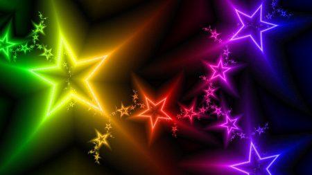 stars, light, colorful