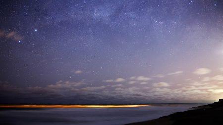stars, sky, night