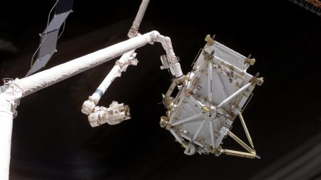 station iss, robotic arm, space