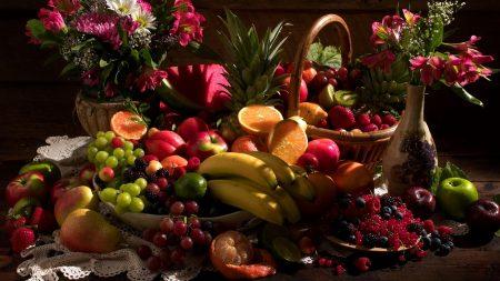 still life, table, fruit