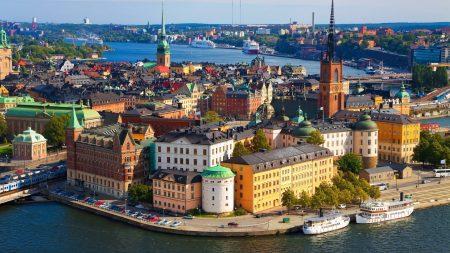 stockholm, river, building