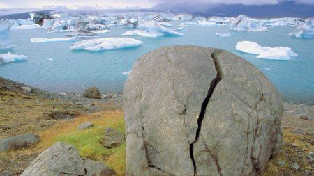 stone, crack, coast
