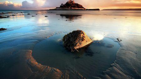 stone, sand, sea
