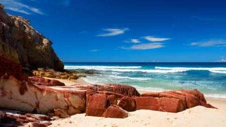 stones, beach, boulders