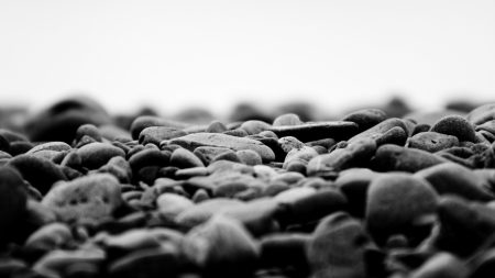 stones, black white, surface