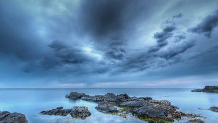 stones, calm, sky