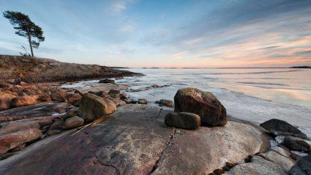 stones, coast, sea