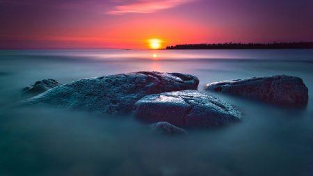 stones, decline, sea