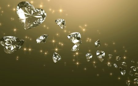 stones, heart, jewelry