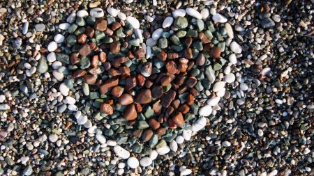 stones, heart, shape