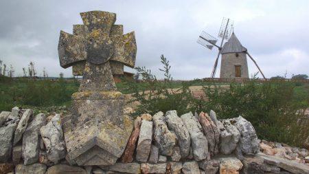 stones, monument, cross