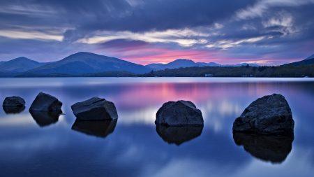stones, mountains, grass