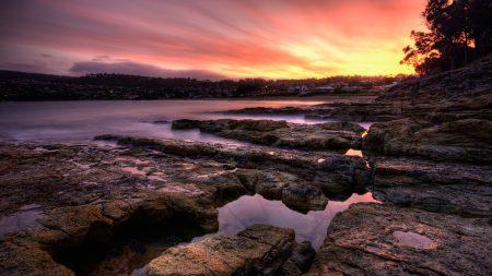 stones, plate, coast