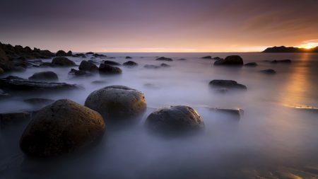 stones, sea, coast