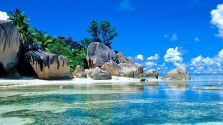 stones, tropical, ocean