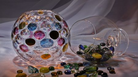 stones, vase, colored