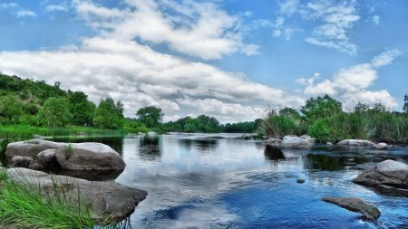 stones, water, river