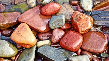 stones, wet, form