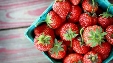 strawberry, berry, crop