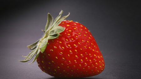 strawberry, berry, red