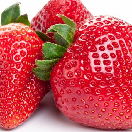 strawberry, close-up, white background