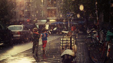street, children, running