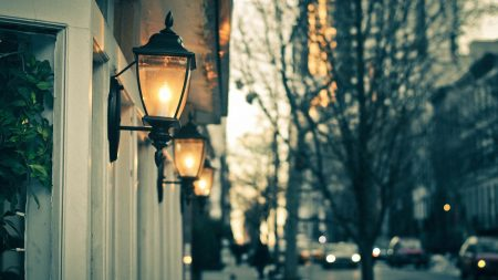 street, lights, night