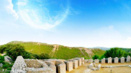 structure, ruins, stones