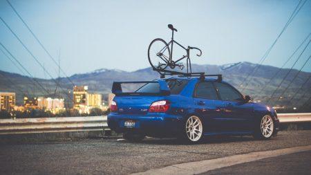 subaru, auto, blue