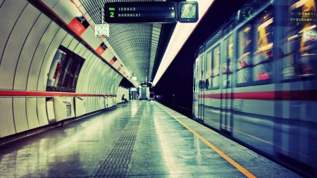 subway, underground, train