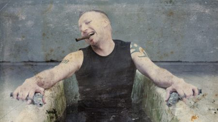 suicide commando, cigar, tattoo