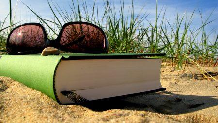 summer, vacation, book