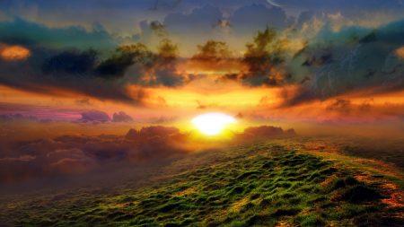 sun, beams, dawn