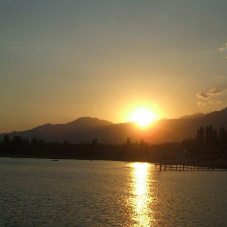 sun rays, dawn, mountains