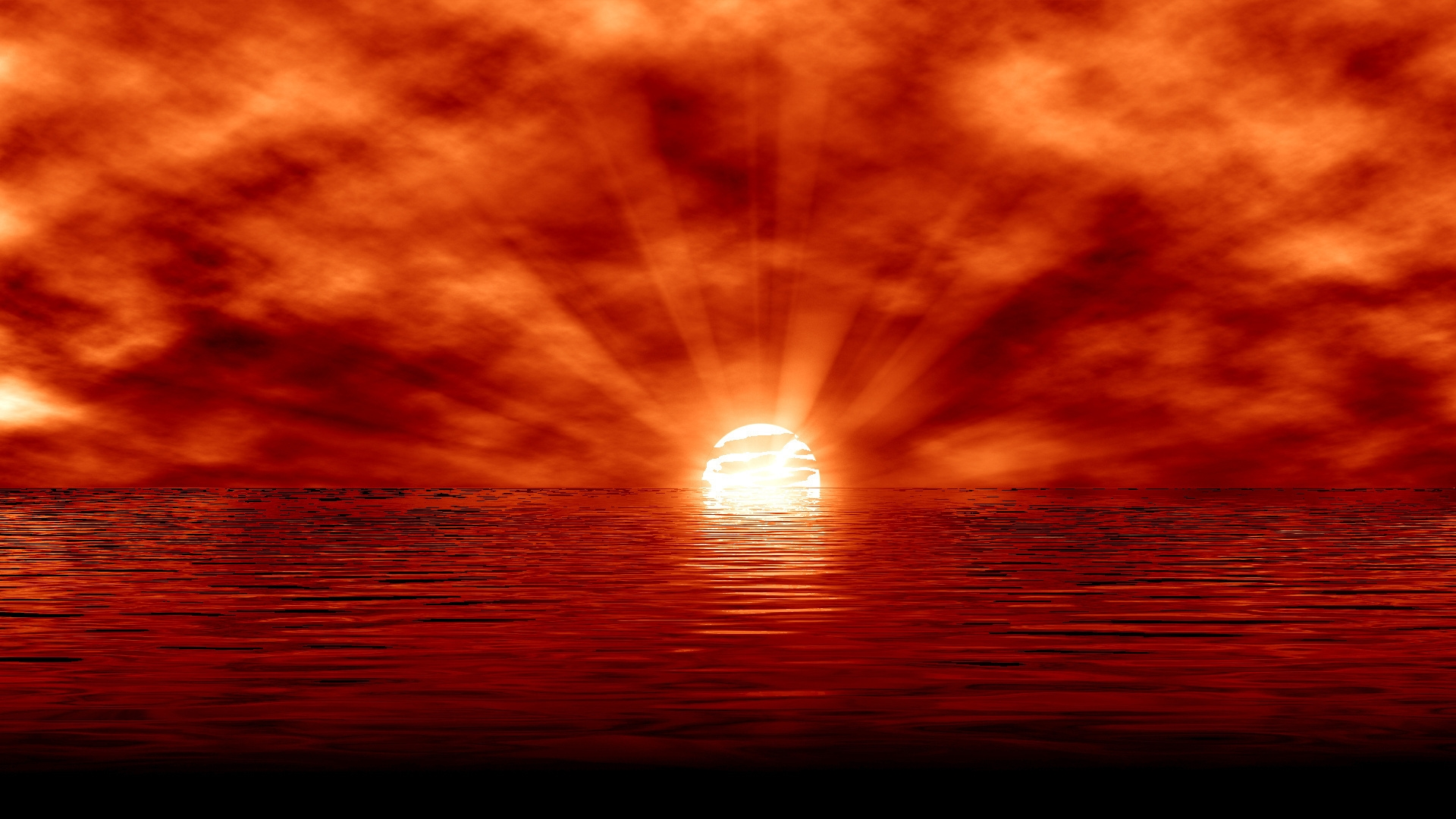 sun, sunset, sea