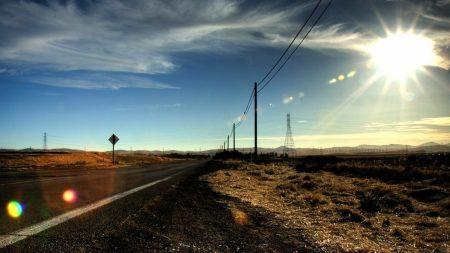 sunlight, road, asphalt