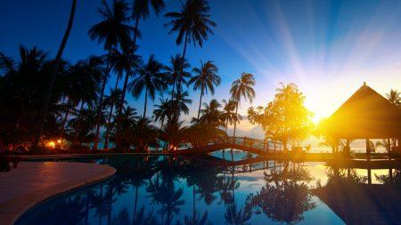 sunrise, thailand, paradise
