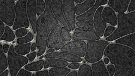 surface, black, ovals