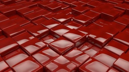 surface, cubes, red