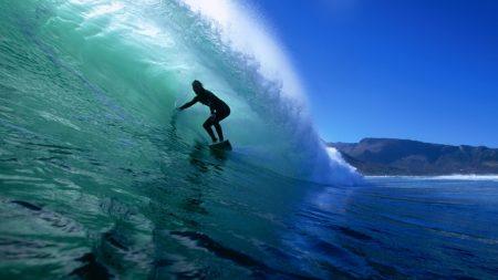 surfing, ocean, silhouette