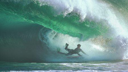 surfing, under water, wave