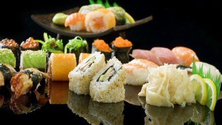 sushi, rolls, ginger