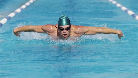 swimmer, swimming pool, swing