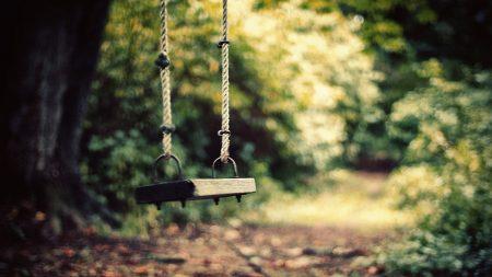 swing, park, grass