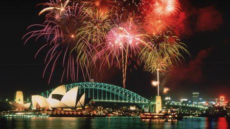 sydney, fireworks, holiday