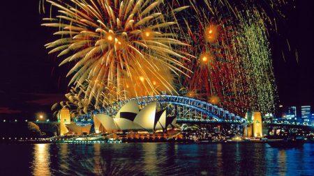 sydney, fireworks, opera