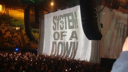 system of a down, stadium, concert