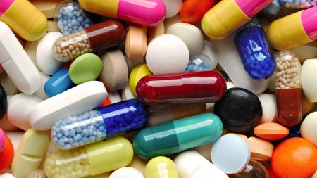 tablets, capsules, multi-colored