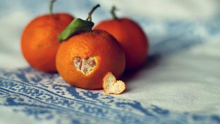 tangerines, citrus, heart